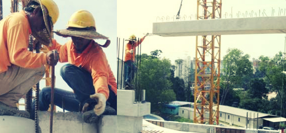 Precast Beams Installation